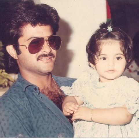 Baby Sonam with Daddy dearest. She looks so plumpy and adorable in this picture