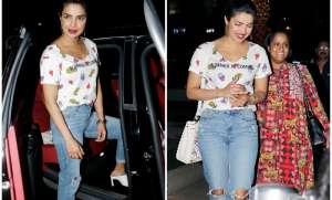 Bollywood actress Priyanka Chopra, who recently returned to