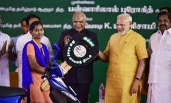 PM Modi launching TN govt's Amma scooter scheme for working