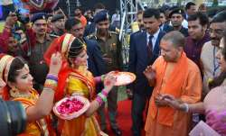 Uttar Pradesh Chief Minister Yogi Adityanath during