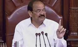 Rajya Sabha Chairperson M Venkaiah Naidu speaks in Rajya