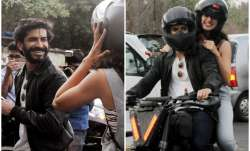 Pics: Harshvardhan Kapoor and Taapsee Pannu enjoy bike ride