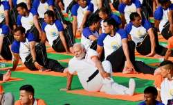 PM Modi at International Yoga Day Celebrations