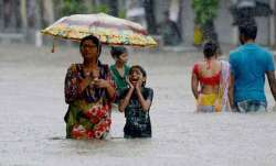 The widespread monsoon rains led to flooding of major roads