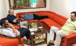 Kejriwal, along with Deputy Chief Minister Manish