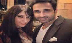 Anissia Batra with her husband Mayank Singhvi.