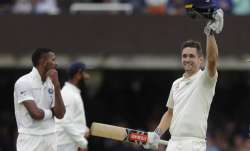 All-rounder Chris Woakes struck his first Test century to