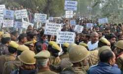 BJP workers protesting against Rahul Gandhi