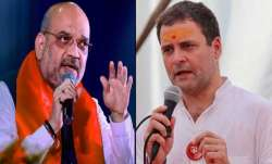 Shah hit out at the Congress over its manifesto promise of