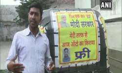 Auto driver Jamuna Prasad is giving free rides till  Modi