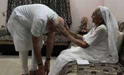 Prime Minister Modi meeting his mother on Sunday in