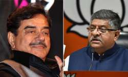 Congress candidate Shatrugan Sinha and Rajiv Shankar