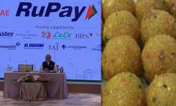 PM Modi buys laddoo from Abu Dhabi outlet