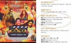 "The restaurant, Hitchki, has a Bollywood thali called ""Gogo"