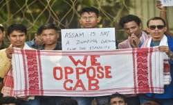 People of Assamese community protest in London against citizenship law