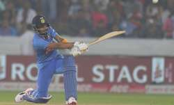 India's K L Rahul bats during the first Twenty20