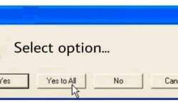 The Windows XP dialogue box used to appear on computer