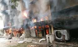 Fire breaks out at Delhi transport office; 8 firefighters