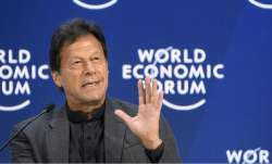 Pakistan PM Imran Khan during his address at the World