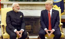 A file photo of PM Modi and US President Donald Trump