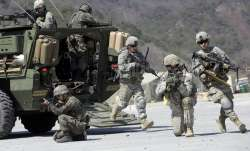 U.S. Army soldiers from the 25th Infantry Division's 2nd Stryker Brigade Combat Team and South Korea