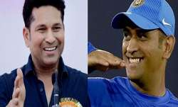 Sachin Tendulkar and MS Dhoni