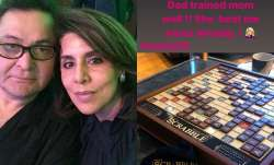 Rishi Kapoor trained wife Neetu 'well' in scrabble, Riddhima Kapoor shares photo