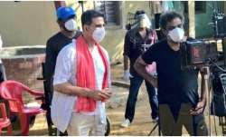 Akshay Kumar, R Balki shoot for coronavirus awareness campaign at Mumbai studio