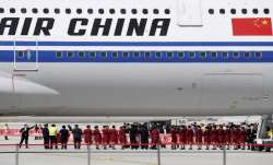 An Air China flight at Beijing's international airport