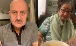 Anupam Kher updates about mother's health after testing COVID19 positive