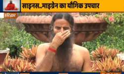 Treat sinus and migraine instantly with Swami Ramdev's yoga asanas, pranayamas and acupressure