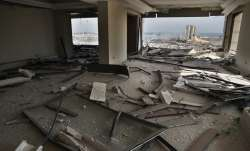 The scene of the explosion that hit the seaport of Beirut