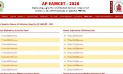 AP EAMCET 2020 Answer Key released. Direct link to download