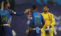 Chennai Super Kings after defeating Mumbai Indians in IPL