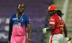 Jofra Archer and Chris Gayle