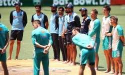 India in Australia: Team India joins Australia players in pre-match 'Barefoot Circle' ahead of first