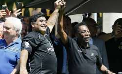 Pele andDiego Maradona