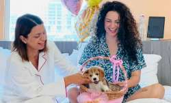 Kangana Ranaut's sister Rangoli Chandel welcomes new family member on birthday- Gappu Chandel