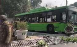 Protesting farmers intensify stir, vandalise DTC bus