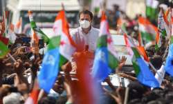 Congress leader Rahul Gandhi during his election campaign