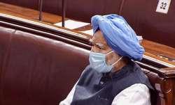 Former Prime Minister Manmohan Singh in the Rajya Sabha