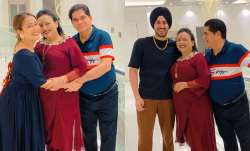 Neha Kakkar, hubby Rohanpreet celebrate parents' wedding anniversary in Rishikesh | PICS