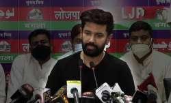 Chirag Paswan addresses media