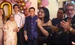 In Pics: Govinda celebrates wife Sunita Ahuja's birthday;