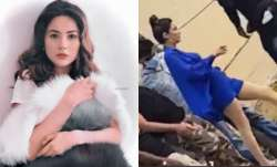 Shehnaaz Gill brutally trolled after viral video of her assistant making her wear footwear
