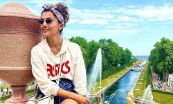 Bollywood actress Taapsee Pannu is enjoying her days taking