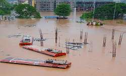 Ratnagiri: Buses submerged in a flood-affected area