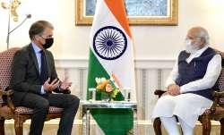 Prime Minister Narendra Modi meets First Solar CEO Mark