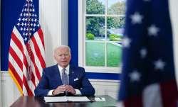 President Joe Biden speaks during a virtual COVID-19 summit