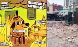 Meme fest begins on Twitter after major earthquake rocks Melbourne following anti-lockdown protests